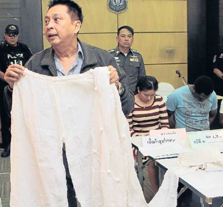 """Ghanaian Man and his Thai Girlfriend Caught Smuggling Cocaine """"Coated"""" on Clothes"""