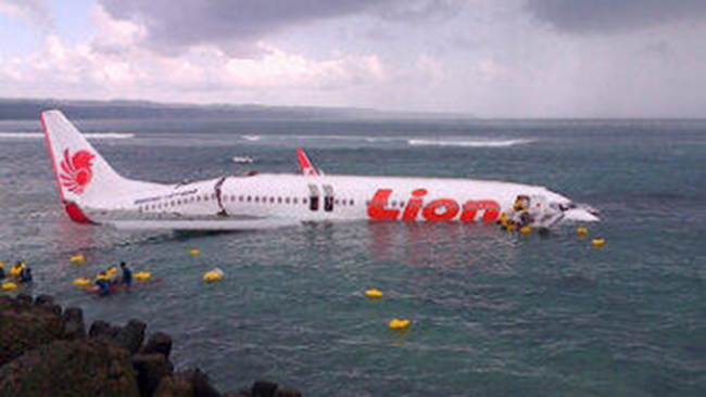 All Survive after Jet Lands in the Ocean off Bali Indonesia