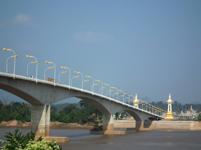 """fourth """"friendship"""" bridge across the Mekong River, between northern Thailand and Laos"""