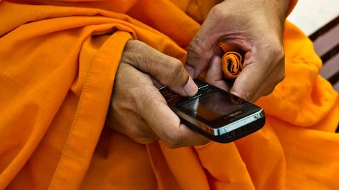 Cambodian Monks arrested with Porn on Cell Phones