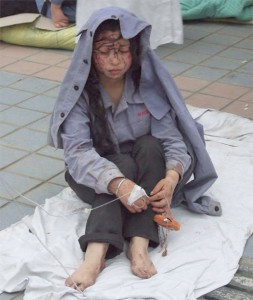 Young Girl in shock after quake