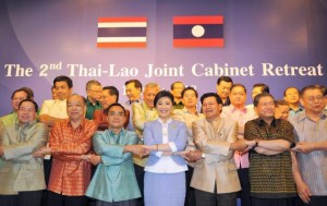Thailand and close neighbour Laos yesterday ended their second joint cabinet retreat in Chiang Mai by agreeing to boost cooperation in economics and transportation.