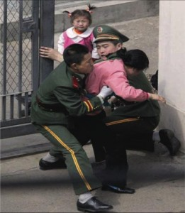 China treats the north korean refugees as economical migrants and deports them back to North Korea were they often face execution or concentration camp for defection