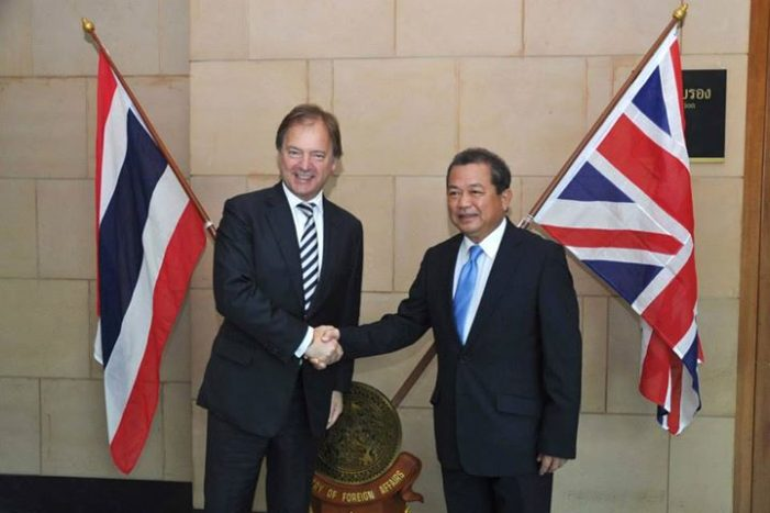 First ever Thailand-UK Strategic Dialogue