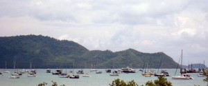 Chalong Bay - normally a peaceful haven for sailing boats