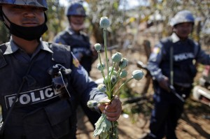 Myanmar is the world's second-largest opium producer after Afghanistan