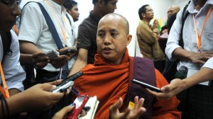 Some Muslims say Buddhist monks have been inciting followers during recent violence in Myanmar. Monk U Wirathu acknowledges that he is a Buddhist nationalist but says he has tried to prevent fighting. He's shown here at the Masoeyein monastery in Mandalay, Myanmar,