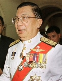 General Chavalit Yongchaiyudh is a Thai politician and retired general. He was Thailand's 22nd Prime Minister from 1996 to 1997