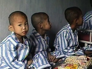 Abandoned North Korean children