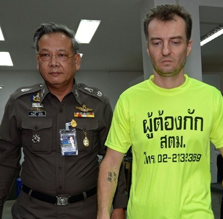 Stefano Raccaqni, 38, (pictured) was arrested on Tuesday in Chiang Mai