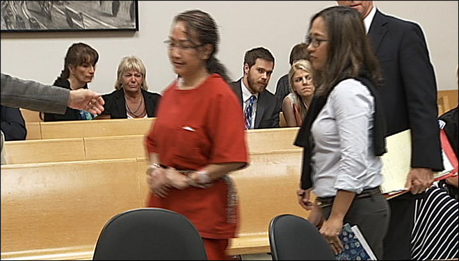 Janjira Smith at her sentencing after pleading guilty to second-degree murder