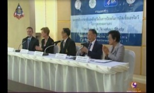 The two agencies, joined by US Ambassador to Thailand Kristie A Kenney- Second from left