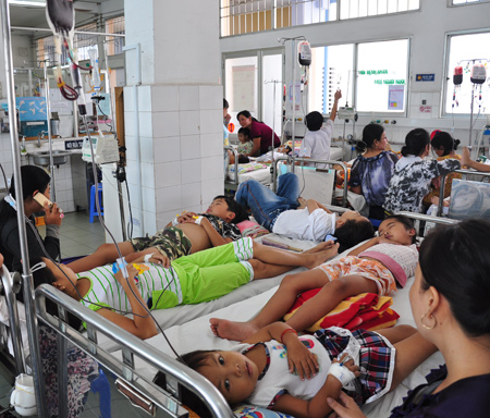 Around 40 patients per day on average received treatment at the hospital