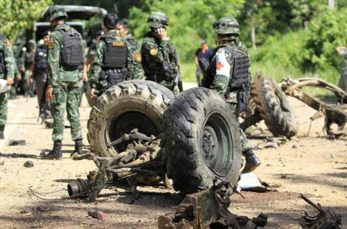 An army spokesman said that the incident is the biggest loss for Thailand's military this year