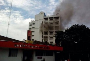 Police are investigating the fire at the Success Inn, near Phahon Yothin police station in the Chatuchak district of Bangkok