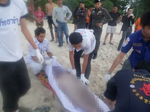 He was found by people visiting the beach and taken to nearby Patong Hospital, where doctors confirmed he had drowned.