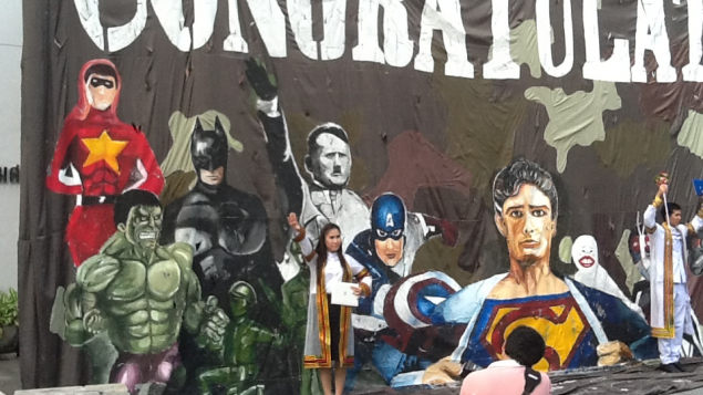 Thailand's Chulalong University has come under fire for displaying a mural depicting Adolph Hitler as a superhero, along with Superman and Batman.