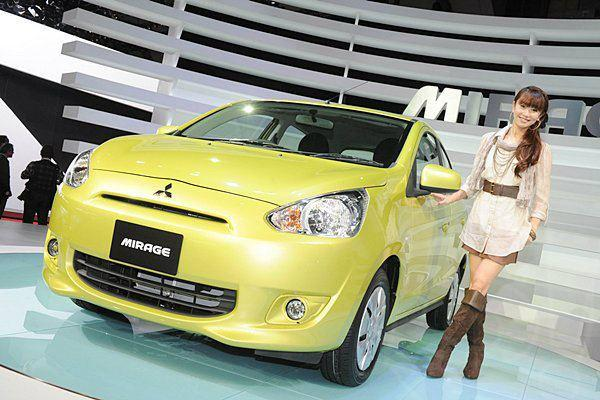 Mitsubishi target is to sell 2,500 units/month of the Mirage in Thailand