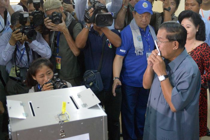 Cambodia's Prime Minister Hun Sen Wins Election Taking Only 68 Seats