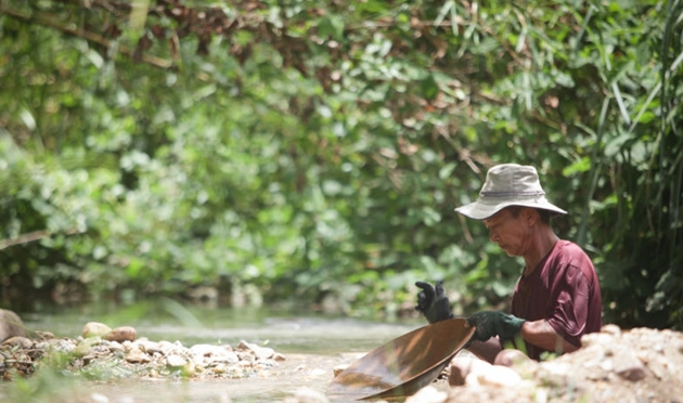 gold panning is an activity that has been carried out by the locals for several generations