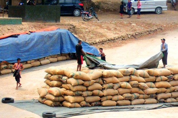 Smuggling of rice appears to be rampant.
