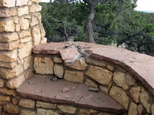 Coconino County Sheriff's Office shows the rock wall believed to be where a victim were sitting when lighting stuck