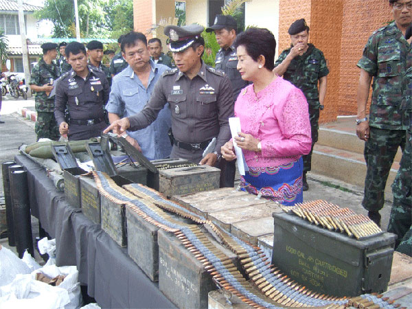 Large Arms Cache Recovered in Mae Hong Son
