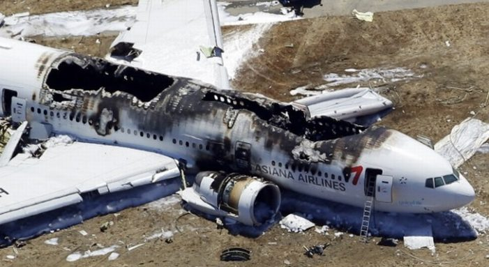 Asiana Airlines flight from South Korea Crashes in San Francisco – Video