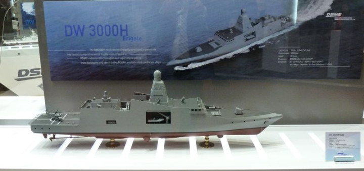 Thailand's new frigate will be based on Daewoo's DW-3000H design