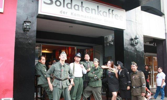 Soldatenkaffee has been open in Bandung, Indonesia, since April 2011