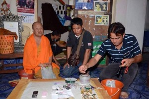 A 41-year-old monk who told police he took methamphetamine to slim down has been charged with using an illegal drug.