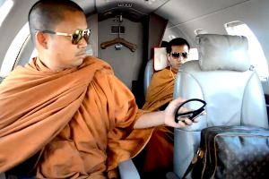 Footage of Wiraphon, 33, and two other monks travelling in a private jet, wearing sunglasses and carrying a Louis Vuitton luxury bag, caused a scandal recently in Buddhist-majority Thailand.