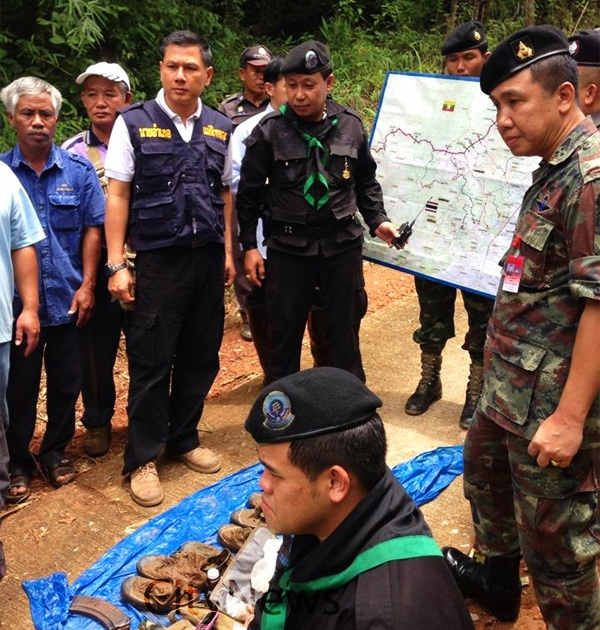 Police Colonel Boonwat Mangkarat, the commander of the Mae Fah Luang District Police, later visited the scene and told the press that the officers are safe.