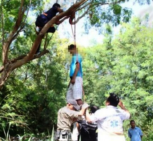 Russian Man Found Hanging From Tree