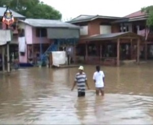 Ayutthaya flooded by one metre of water