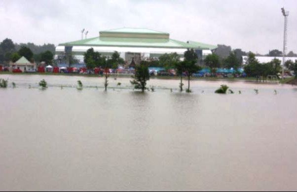 Ubon Rathathani Train Service Suspended Due to Flooding