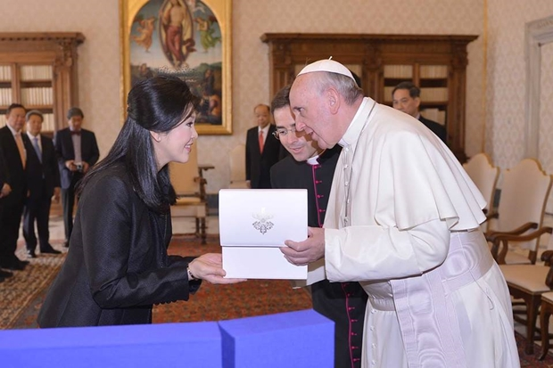 Pope Francis Accepts Yingluck's Invitation to Visit Thailand