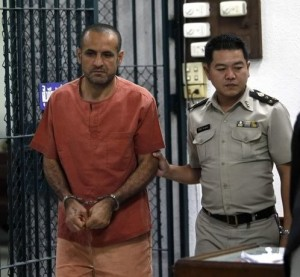 Atris Hussein was sentenced to two years and eight months in prison by a Thai court for illegally possessing chemicals that could be used to make bombs