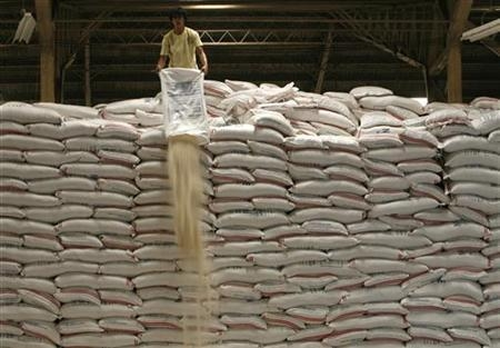 Thailand now has stockpiles of rice due to its intervention scheme.