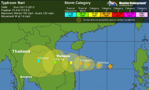 Typhoon Nari to Hit Thailand Wednesday Prepare for More Flooding