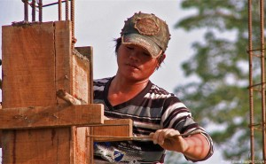 Burmese worker in Chiang Rai