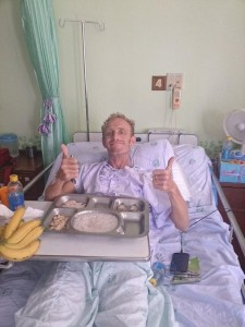 Graham Hogg is stranded in Thai hospital following his crash