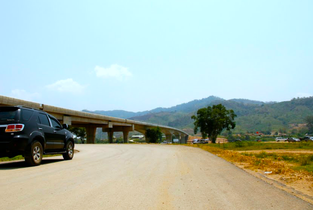 The bridge, which connects Bokeo province to Thailand's Chiang Rai province