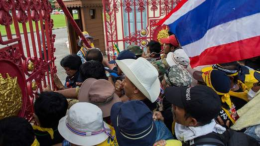 Opposition Protesters Invade Army HQ in Bangkok