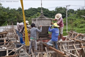 Burmese workers in Chiang Rai
