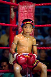 Nicolas Asfouri/Getty ImagesFor years, human rights advocates have condemned fights between children in Thailand.