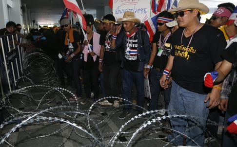 Thai Protesters Besiege Army, Ruling Party Offices