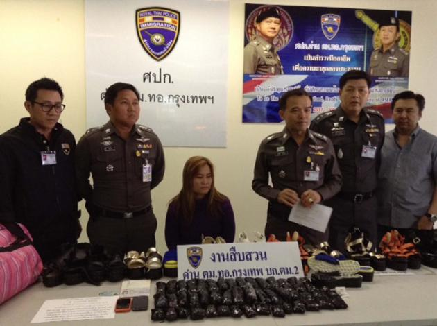 Customs officials Bust Woman at Don Mueang Airport with 4.24kg of Meth