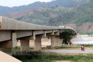 The 4th Thailand-Laos Friendship Bridge, opening next week, in course of construction connects Chiang Rai's Chiang Khong district and Laos' Bo Kaeo.