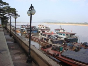 Chiang Saen Port in Thailand's northernmost province of Chiang Rai